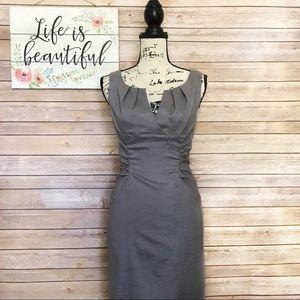 Simply Liliana Gray Ruched Sleeveless Dress Size 6